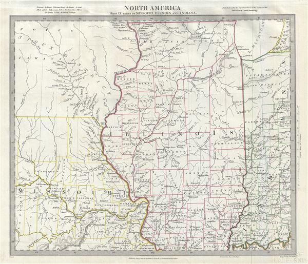 North America Sheet IX of Missouri, Illinois and Indiana. - Main View