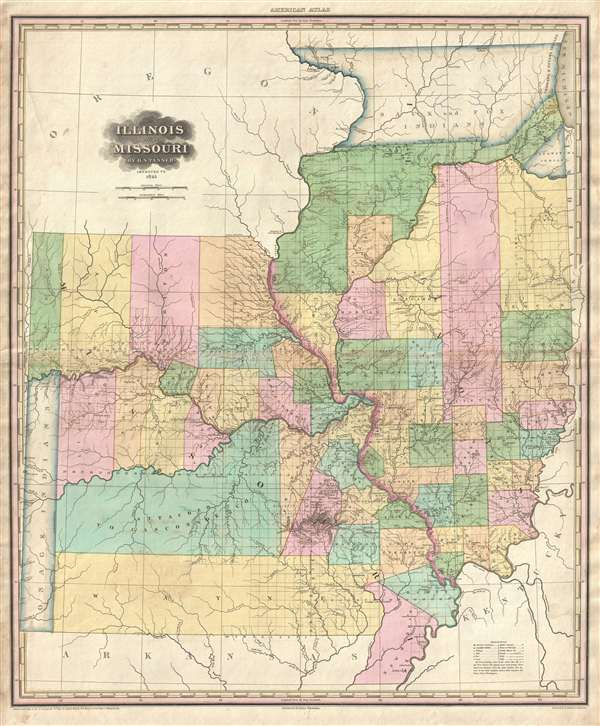 Illinois And Missouri By H S Tanner Geographicus Rare