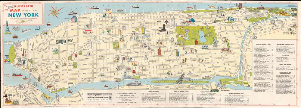 Illustrated Map of the City of New York. - Main View