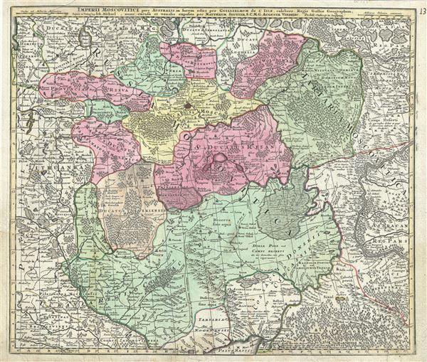 Imperii Moscovitici pars Australis in lucem edita per Guillielmum de l'Isle, Regis Galliae Geographum. - Main View