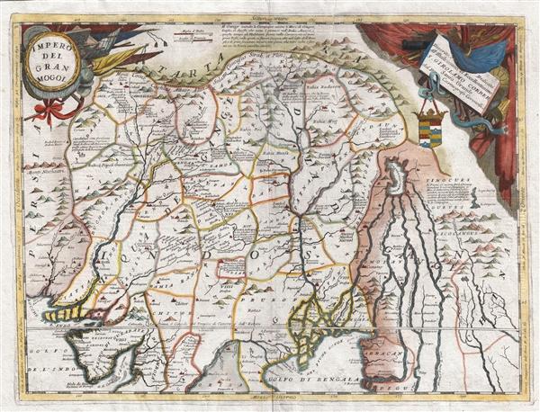 Impero Del Gran Mogol descritto e didicato all' Illustrissimo et Eccellentisimo S. Girolamo Correr, Sauio Grande dal P. Cosmografo Coronelli - Main View