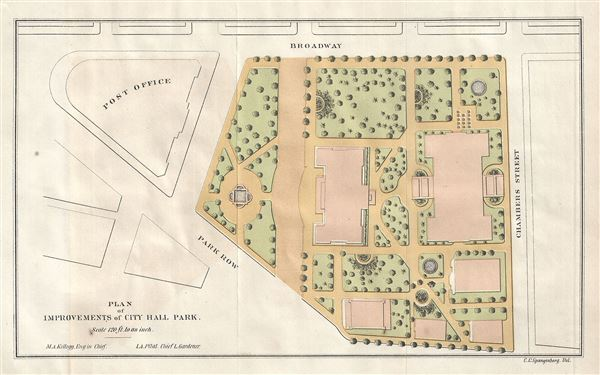 Plan of Improvements of City Hall Park.