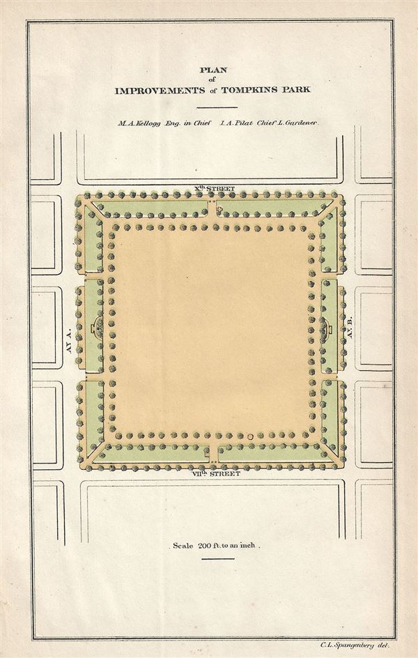 Plan of Improvements of Tompkins Park.