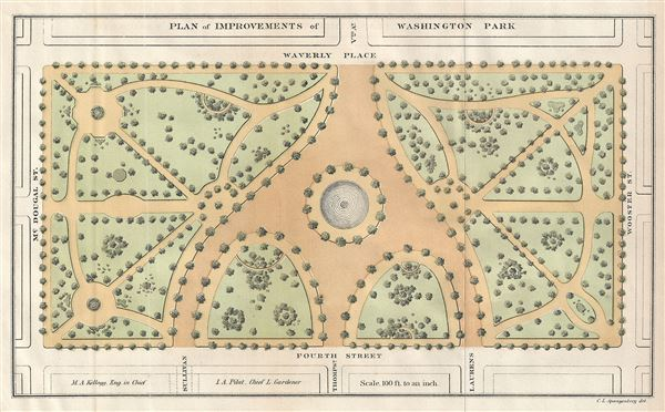 Plan of Improvements of Washington Park. - Main View