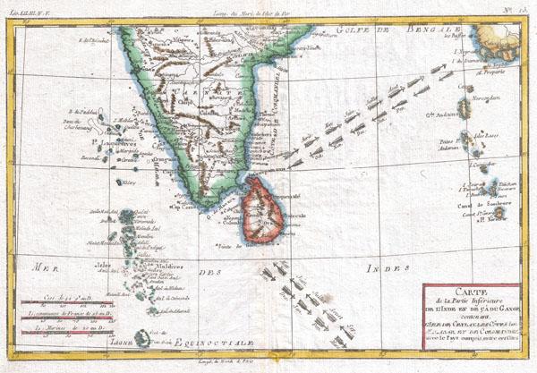 Carte De La Partie Inferieure De L'Inde En De Ca Du Gange