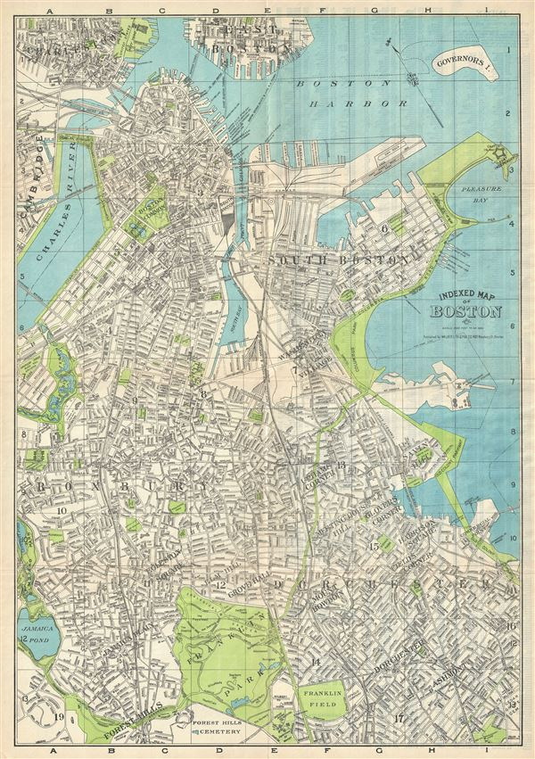 Indexed Map of Boston.
