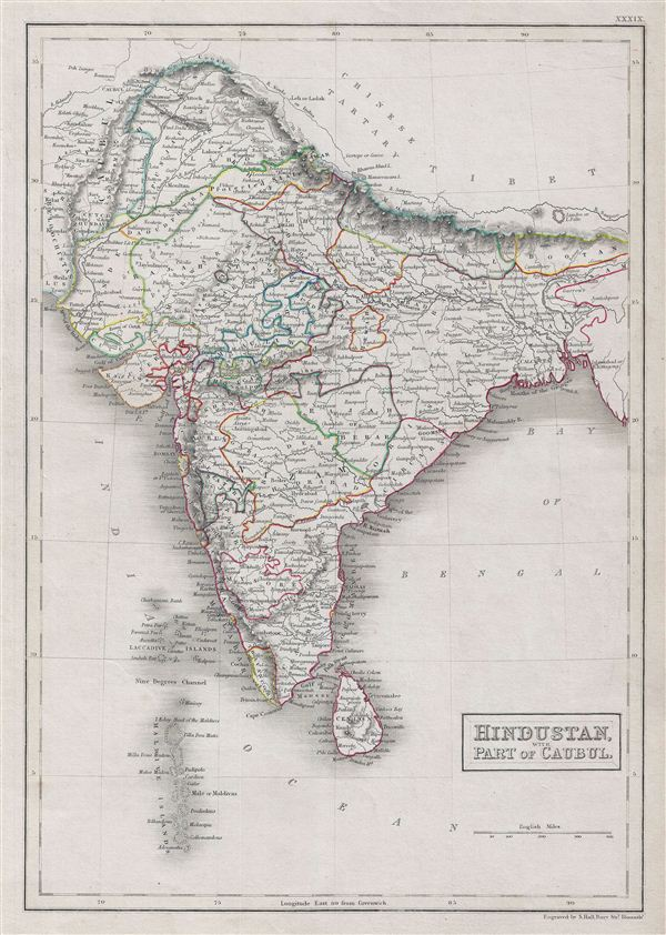 Hindustan,  with part of Cabul.
