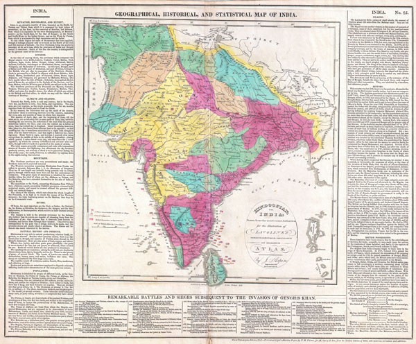 Geographical, Historical, and Statisitcal Map of India / Hindoostan; or India