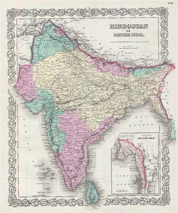 Hindostan or British India. - Main View