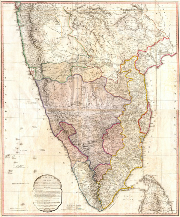 A Map of the Peninsula of India.