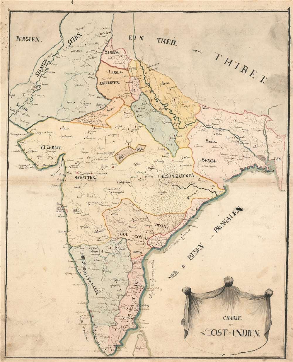 Charte von Ost=Indien. - Main View