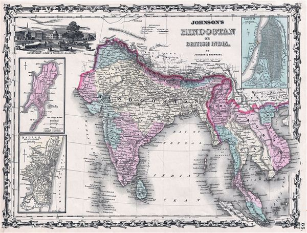 Johnson's Hindostan or British India.