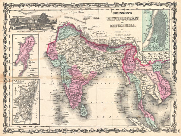 Johnson's Hindostan or British India. - Main View