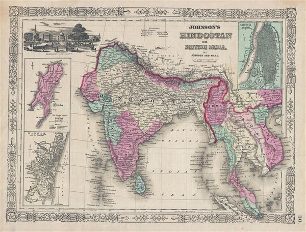 Johnson's Hindostan or British India - Main View