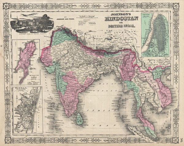 Johnson�s Hindostan or British India.