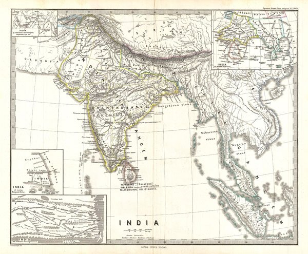 India In Asia Map.India Geographicus Rare Antique Maps