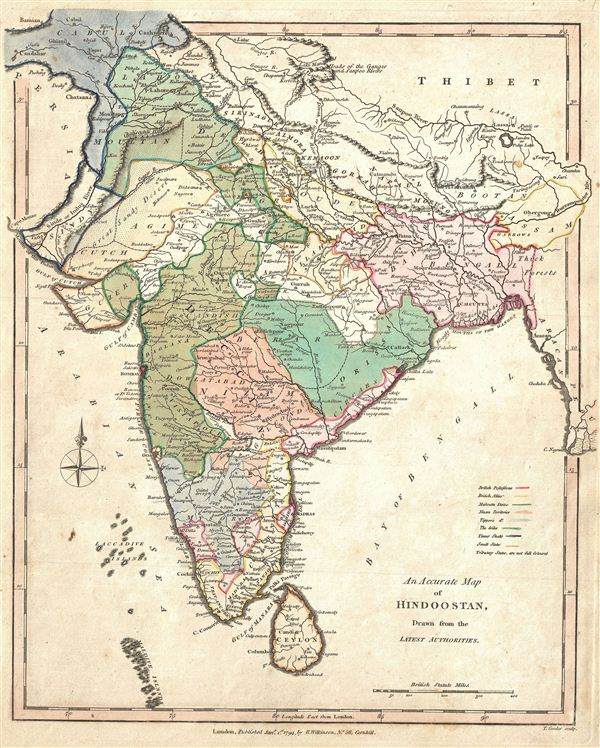 An Accurate Map of Hindoostan, Drawn from the Latest Authorities.