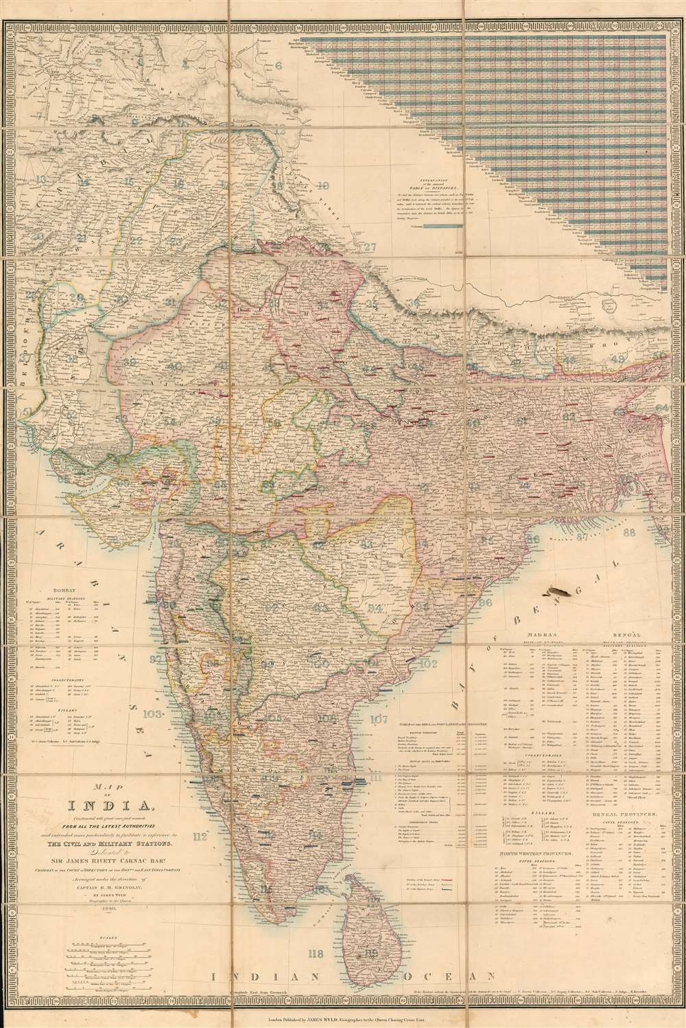 1840   Wyld map of India and Afghanistan