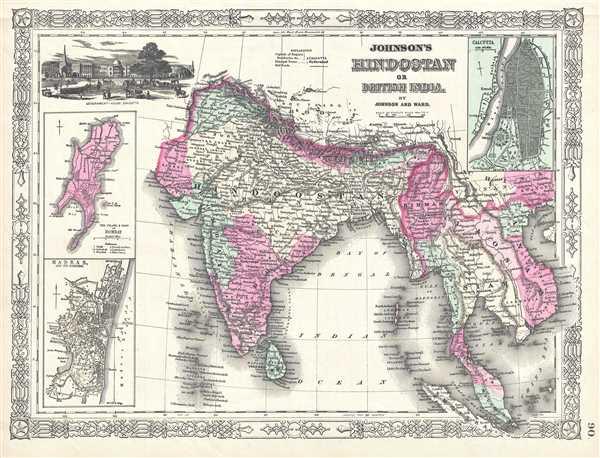 Johnson's Hindostan or British India - Main View