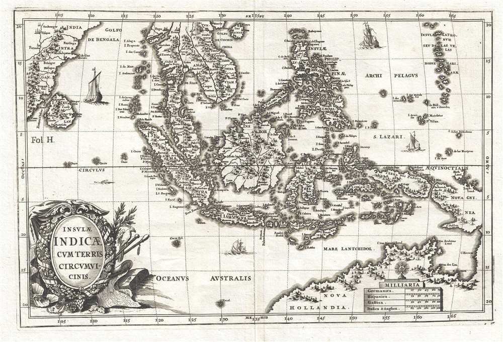 1703 Scherer Map of Southeast Asia and the East Indies