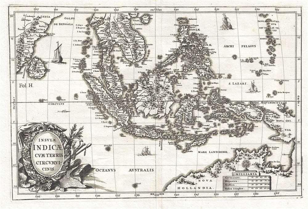 Insulae Indicae Cum Terris Circumvicinis.