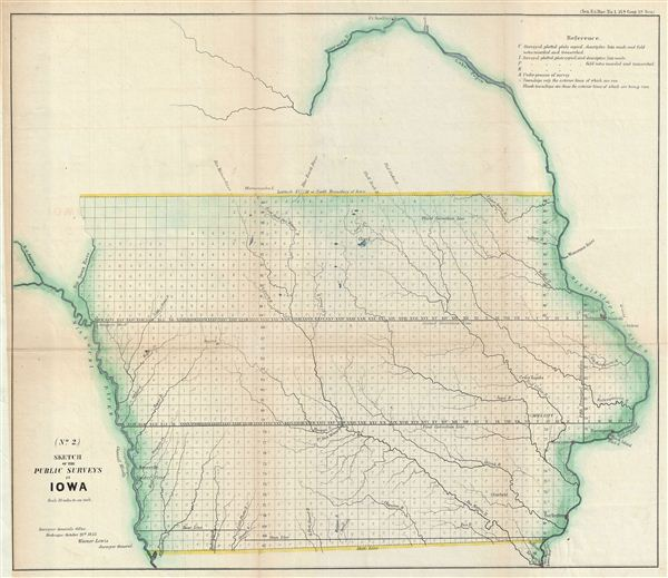 (No. 2.) Sketch of the Public Surveys in Iowa. - Main View