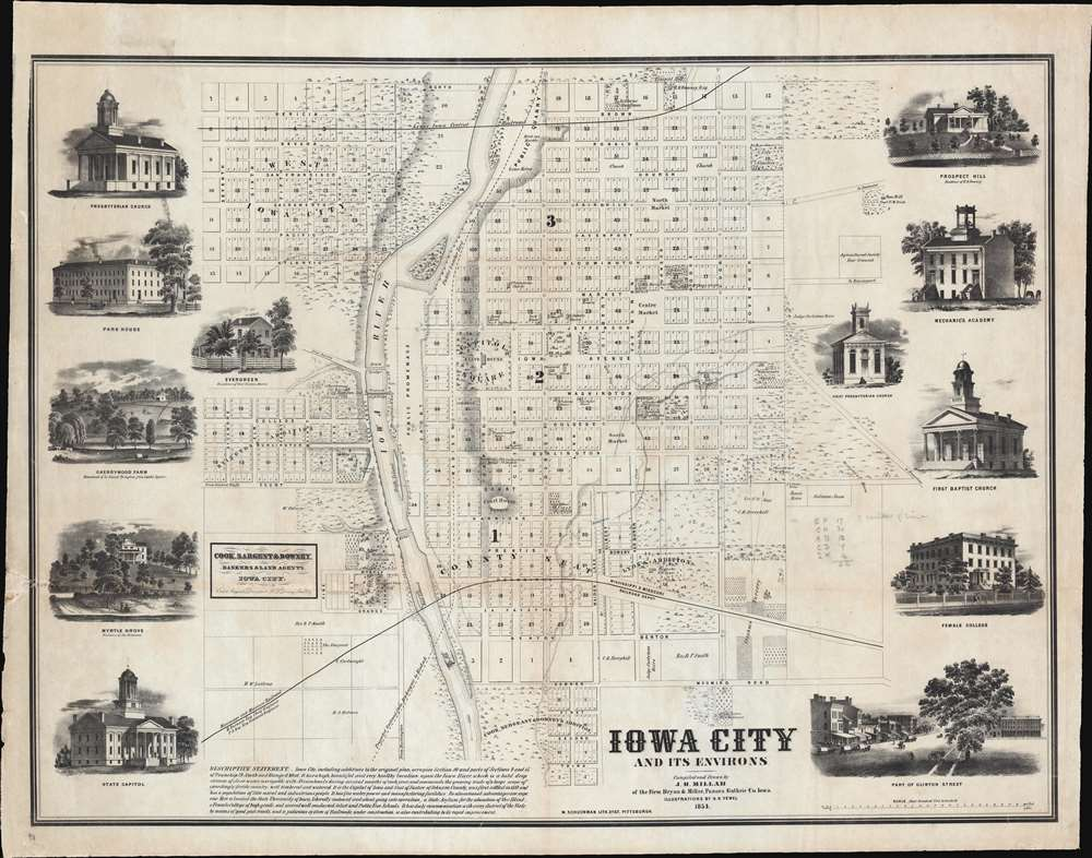 Iowa City and its Environs. - Main View