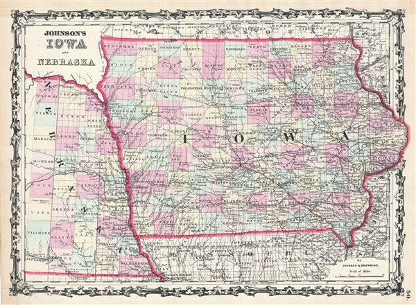 Johnson's Iowa and Nebraska. - Main View