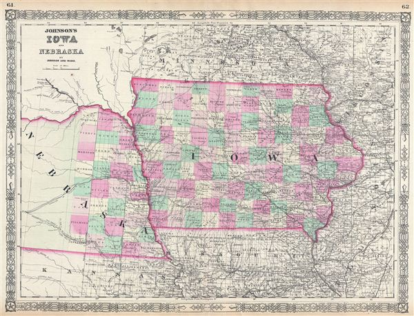 Johnson's Iowa and Nebraska. - Main View