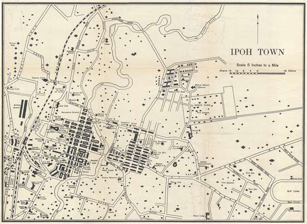 Ipoh Town Geographicus Rare Antique Maps
