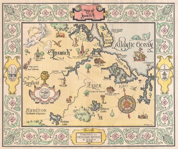 Map of Ipswich. - Main View
