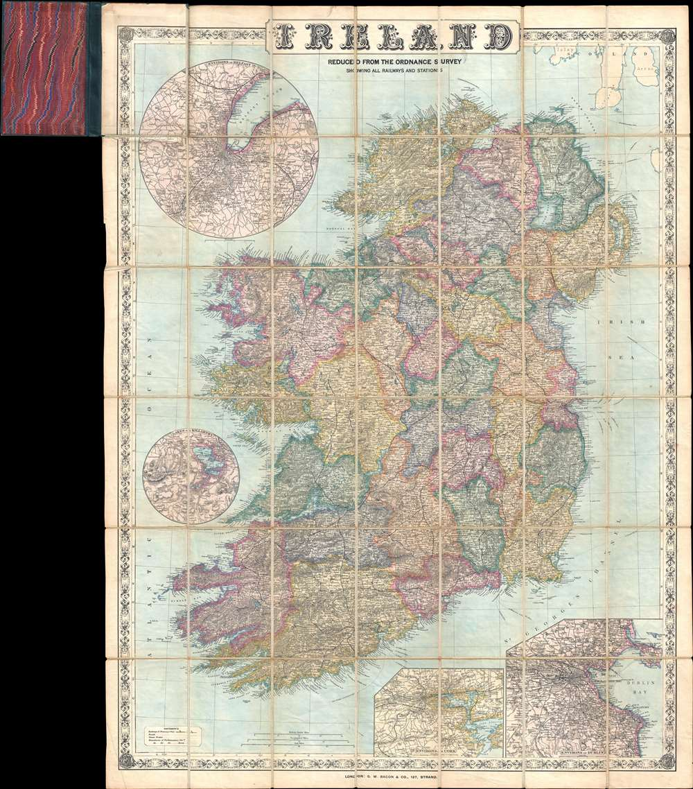 Ireland Reduced from the Ordnance Survey Showing All Railways and Stations.