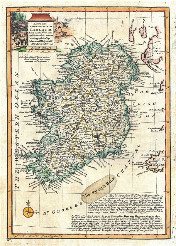 A New and Accurate Map of Ireland. - Main View