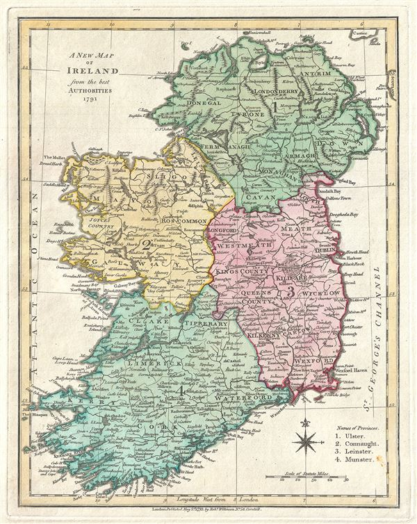 A New Map of Ireland from the best Authorities 1791.