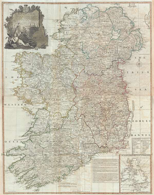Map Of Southern Ireland Cities.A Map Of The Kingdom Of Ireland Divided Into Provinces Counties