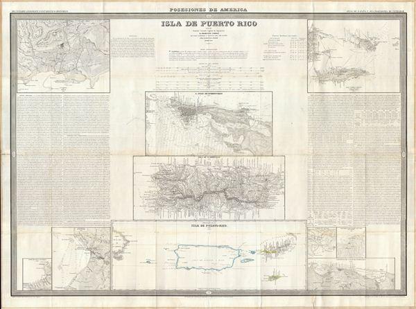 Isla de Puerto Rico por el Teniente Coronel Capitan de Ingenieros D. Francisco Coello, las notas estadisticas e historicas han sido escritas por D. Pascual Madoz. Madrid 1851.