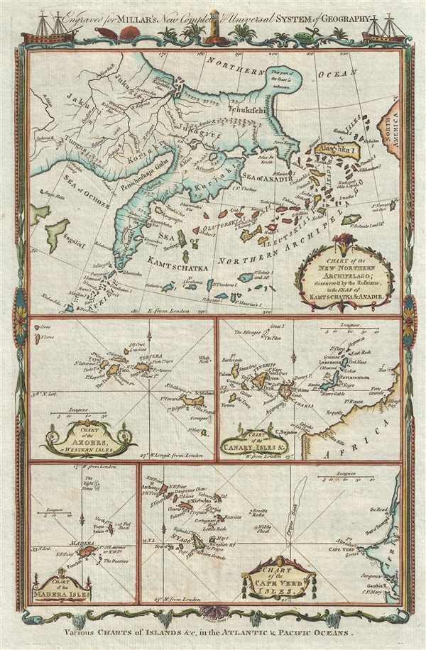 Various Charts of Islands, etc. in the Atlantic and Pacific Oceans. - Main View