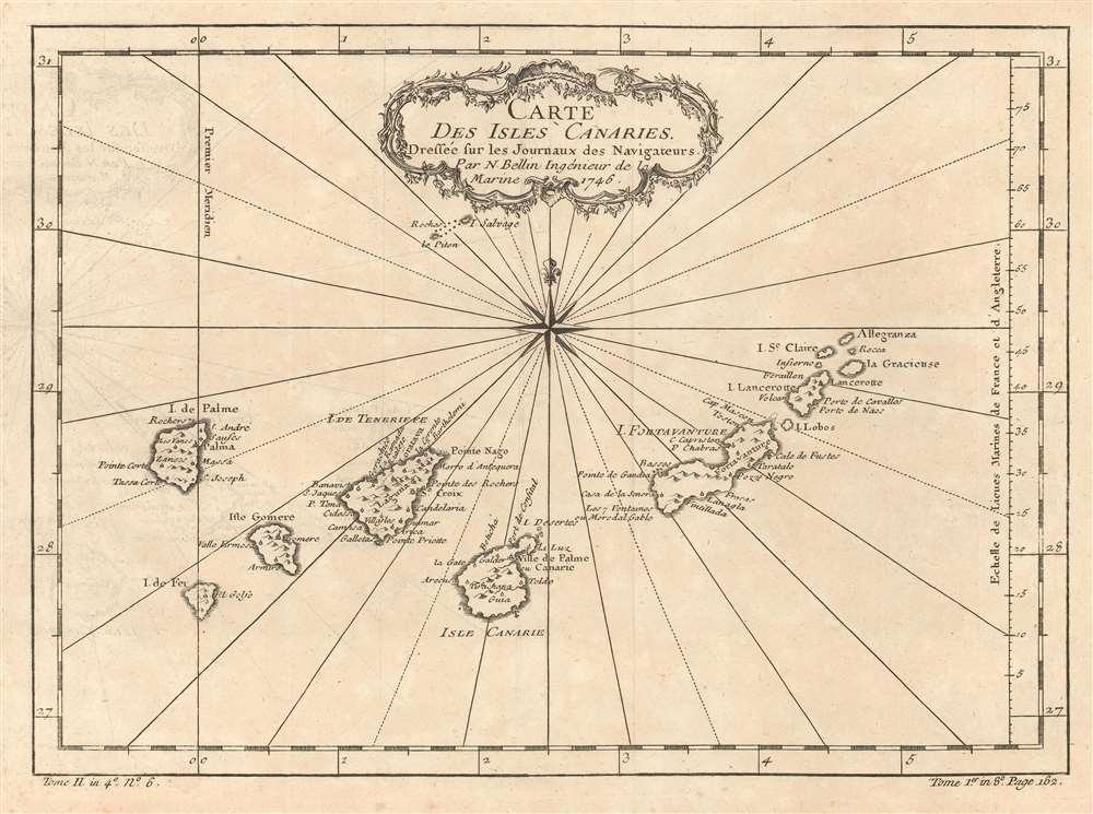 Carte des Isles Canaries. - Main View