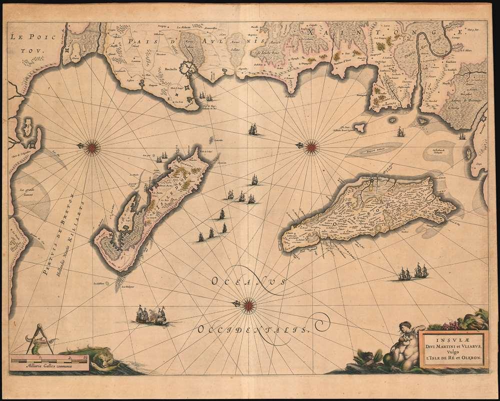 Insulae Divi Martini et Uliarus, Vulgo l'Isle de Re et Oleron. - Main View
