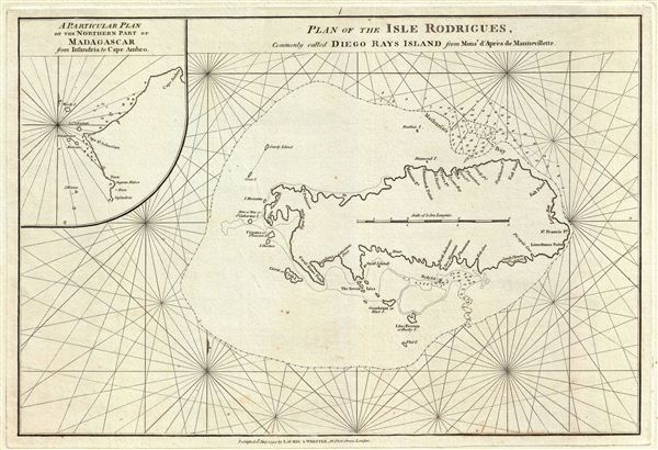 Plan of the Isle Rodrigues, Commonly called Diego Rays Island.