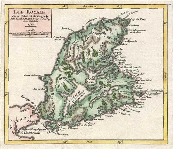 Isle Royale. Par le Sr. Robert de Vaugondy, Fils de Mr. Robert Géog. ord du Roi