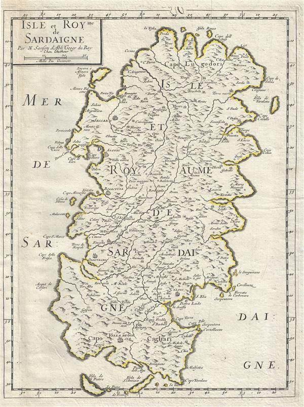 Isle et Royme de Sardaigne.