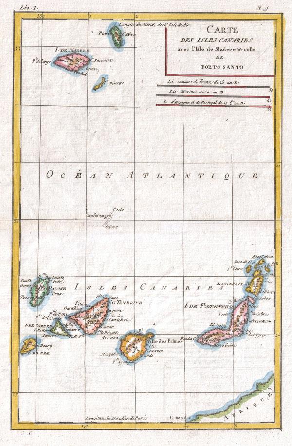Carte Des Isles Canaries - Main View