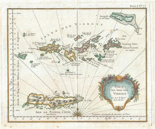 Carte des Isles des Vierges.