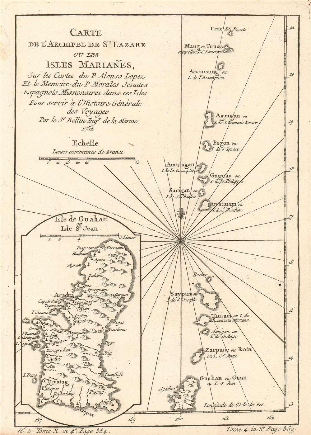 Carte de l'Archipel de St. Lazare ou les isles Mariañes. - Main View
