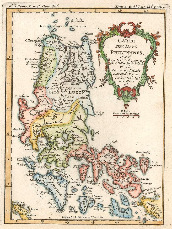 Carte des Isles Philippines. Dressée sur la Carte Espagnole du R.P. Murillo de Velarde. 1re Feuille. Pour servir a l'Histoire Générale des Voyages. - Main View
