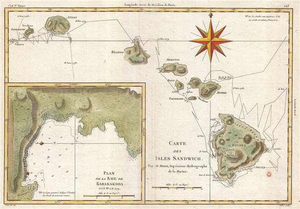 Carte des Isles Sandwich.