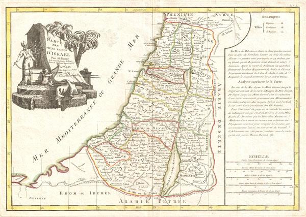 Carte des Douze Tribus D'Israel.