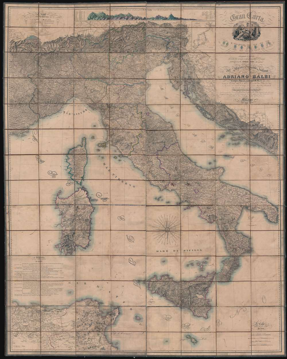Gran Carta d'Italia. - Main View