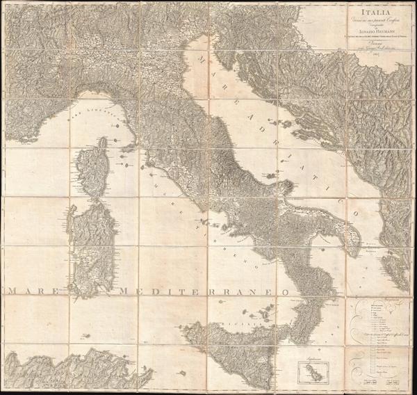 Italia Divisa ne' suoi Presenti Confini.